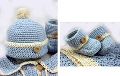 Baby Boy Crocheted Set -- Her stuff is WAY cute!