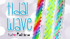 NEW Tidal Wave Rainbow Loom Bracelet Tutorial   How To
