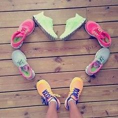 shoes love gym workout run lift clothes outfits colorful heart runners sneakers