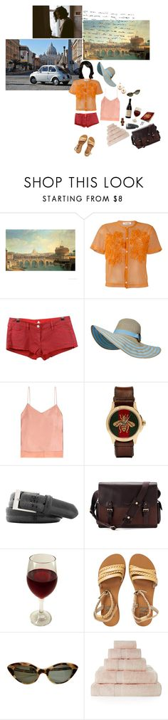 """""""summer in rome"""" by whimsical-angst ❤ liked on Polyvore featuring Dolce Vita, Comme des Garçons, Étoile Isabel Marant, Edun, Gucci, Bryant Park, Aspinal of London, Dolce&Gabbana, Billabong and Yves Delorme"""