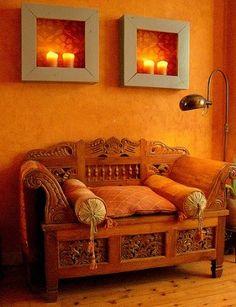 paredes naranjas decoracion - Google Search