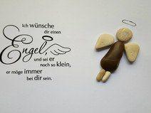 Bild aus Kieselsteinen *Engel*