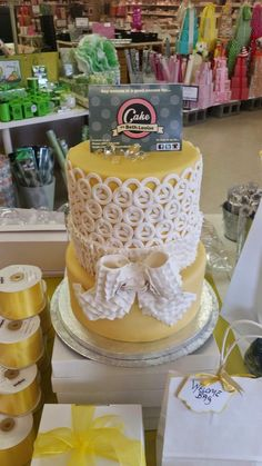 we have a yellow wedding cake on display in our store to give all the brides a visual on all the creative packaging ideas and diy ideas for your perfect wedding Wedding Favours, Wedding Cakes, Yellow Wedding, Packaging Ideas, Big Day, Perfect Wedding, Brides, Diy Ideas, Favors