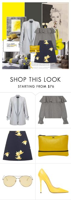 """""""Embellished"""" by giko-is-giantsister ❤ liked on Polyvore featuring Kerr®, Miss Selfridge, Opening Ceremony, Marni, MOFE, Gentle Monster, Jimmy Choo, Kenneth Jay Lane and country"""