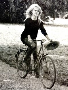 Miss Brigitte Bardot This is how I always picture myself on my bike.....ahahahahahaha!!