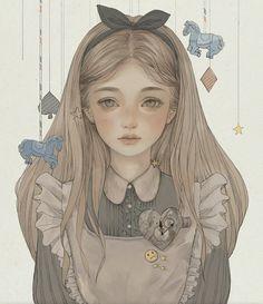 Alice In Wonderland - one of my favorite books! Lewis Carroll, Disney Kunst, Disney Art, Arte Copic, Alice Liddell, Arte Sketchbook, Alice Madness, Wow Art, Adventures In Wonderland
