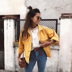 D A I L Y | | | #JACKET #WHITETSHIRT #JEANS #HIGHWAISTEDJEANS #DAILY #ZAFUL #CASUAL