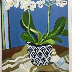 Mandy Buchanan Paintings - Home Flowers In Vase Painting, Floral Paintings, Painted Flowers, Oil Paintings, Flower Vases, Flower Art, Blue And White Vase, Painting Still Life, Botanical Art