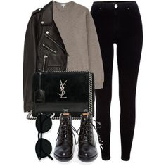 Untitled #7184 by laurenmboot on Polyvore featuring Jakke, River Island, Jeffrey Campbell and Yves Saint Laurent