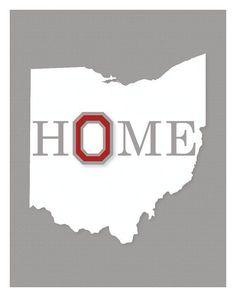 Ohio State University Wall Art by KCScreative on Etsy Buckeyes Football, Ohio State Football, Ohio State University, Ohio State Buckeyes, Ohio State Crafts, The Buckeye State, My Ohio, Just Dream, Columbus Ohio