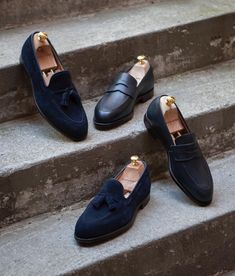 db8ac23ec12 Navy grain  amp  calf suede  roseandborn  crockettandjones Dress Shoes