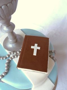 Boys first communion cake