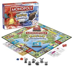 Partner with Pikachu and friends in Pokemon Monopoly! Travel through all eight gyms and battle all kinds of Pokemon in the Pokemon Kanto Edition of Monopoly. Buy, sell and trade with other trainers to collect the most powerful Pokemon team! Monopoly Board, Monopoly Game, Family Board Games, Family Boards, Pokemon Birthday, Pokemon Party, 7th Birthday, Birthday Ideas, Pokemon Team