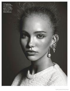 Kim van der Laan Wears Sparkling Gems for Marie Claire Netherlands December 2014