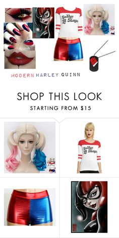 """""""modern harley quinn"""" by xfangirllife on Polyvore featuring modern"""