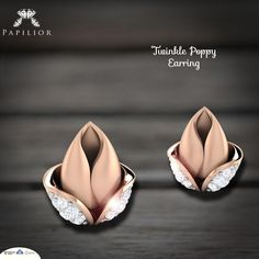 Feel the Beauty with Twinkle Poppy Diamond Earring. Diamond Hoop Earrings, Diamond Studs, Diamond Jewelry, Gold Jewelry, Diamond Earrings, Flower Shape, Designer Earrings, Jewelry Collection, Jewelry Design