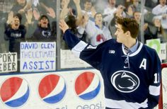 PENN STATE – ATHLETICS – David Glen is a sophomore forward on the Nittany Lion hockey team, with two goals and three assists in 18 games this season. He didn't play in Saturday's 3-2 loss to No. 2 Boston College, but he had the best possible reason: On Friday, Glen began a five-day process to donate bone marrow to a perfect stranger.