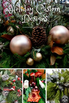Short on time? Our talented designers can create your own personalized arrangement for the holiday season. We can help you set the right mood for your Christmas party or simply add personality and colour to your festive theme!