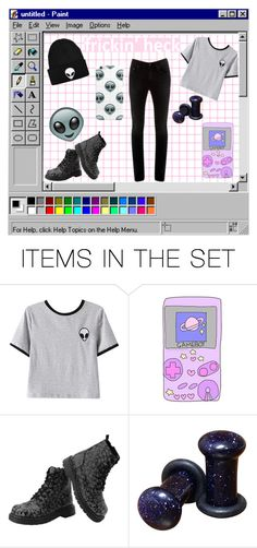 """"""":..Pink Aesthetic..:"""" by cottoncandyprince ❤ liked on Polyvore featuring art, croptop, skinnyjeans, aliens and aesthetic"""