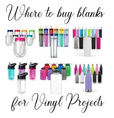 This post contains affiliate links Where to Buy Blanks for Vinyl Crafting Also check out Where to Get Cheap Cricut Supplies Waterbottles 1 Dollar Tree Large variety Thin. Inkscape Tutorials, Cricut Tutorials, Easy Diy Crafts, Diy Crafts To Sell, Sell Diy, Fun Diy, Creative Crafts, Hydrodipping Diy, Kids Crafts