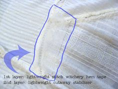 Fix holes in gauze or lightweight fabric