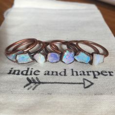 Australian Raw Opal and Copper Ring – www.indieandharper.com