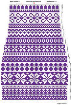 Kanervat varren kaavio Knitting Machine Patterns, Knitting Charts, Knitting Stitches, Knitting Socks, Baby Knitting, Cross Stitch Art, Cross Stitch Designs, Crochet Socks, How To Purl Knit