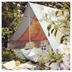 Backyard tent...glamping!