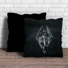 This is Skyrim Logo pillow cushion -Removable poly/cotton cover pillows are soft…