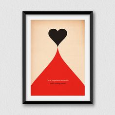 Dirty Mind. Printable funny and decorative wall art by Cartelmania