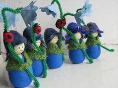 we bloom here: peg doll swaps. Wonderful photo gallery of peg dolls