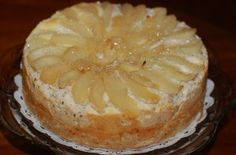 2nd Place Award Winning Wine Tasters Coffee Cake - Champagne poached pears atop a walnut coffee cake with a brie cheesecake center...