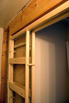 10 diy great ways to upgrade bathroom 7 pocket doors for Basement sliding doors