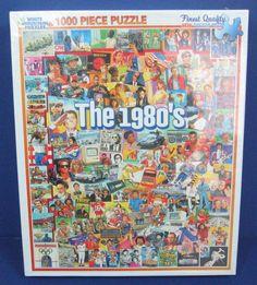 """White Mountain 1000-Piece Jigsaw Puzzle """"The 1980's"""" Theme Cardboard Gift 12+ #WhiteMountain"""