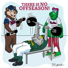 There's NO offseason for MLB mascots