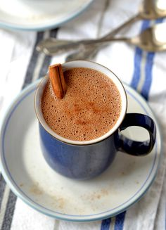 Spiced Chocolate-Chaga Elixir (Superfood Hot Chocolate!) | coconutandberries.com