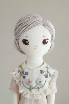Beautiful Handmade Linen Doll | byMinibliss on Etsy