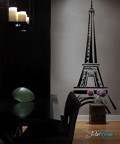 Vinyl Wall Art Decal Sticker Paris Eiffel Tower Decor