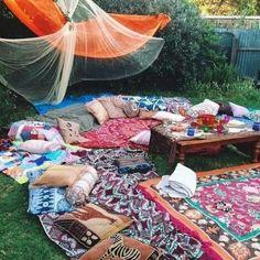 cosy for outdoor cinema night!