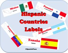 Great to use for Hispanic Heritage Month! Teach your students the 20 Spanish Speaking countries! Spanish 1, Spanish Lessons, How To Speak Spanish, Spanish Flags, Spanish Teacher, Spanish Classroom, Teaching Spanish, Classroom Resources, Hispanic Countries
