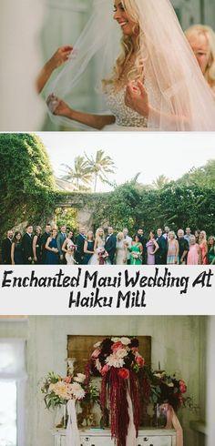 Enchanted Maui Wedding at Haiku Mill - Inspired By This #Fallgardenwedding #gardenweddingCake #gardenweddingSeating #gardenweddingParty #gardenweddingDecorations