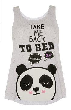 Primark - Grijze Pete Panda pyjamatop