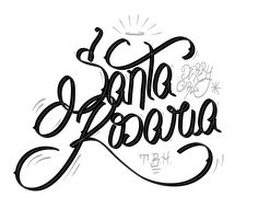 Santa Rosaria lettering by Hebert Marchesi, via Behance