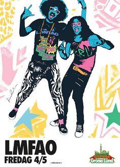 Lmfao party Rock poster Gröna Lund 2012 sweden
