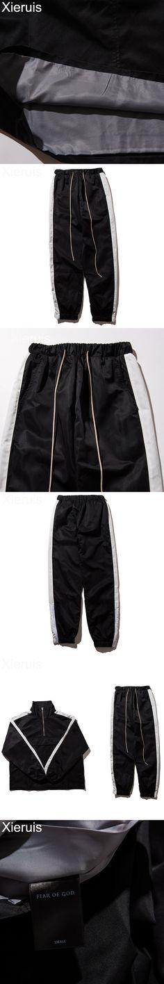 XIERUIS 2017 Collection Two Men Sweatpants New Fog Hip-Hop Trousers Fear Of God Men Joggers Patchwork Exercise Workout Pants