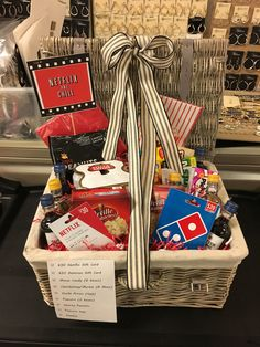 Netflix & Snack gift basket Netflix & Snack gift basket N. Netflix & Snack gift basket Netflix & Snack gift basket N. Kolup Make Netflix & Snack gift basket Netflix & Snack gift basket Netflix & Snack gift basket Netflix & Snack gift basket Date Night Gift Baskets, Movie Night Gift Basket, Date Night Gifts, Movie Basket, Snack Gift Basket, Gift Card Basket, Christmas Gifts For Couples, Christmas Gift Baskets, Holiday Gifts
