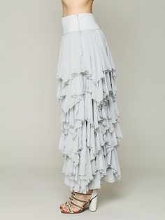 5 Layer Maxi Skirt - Free People