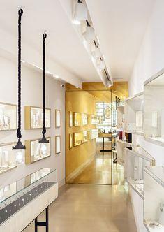 Sarah may jewellery spa jewelry store design, jewellery showroom, jewellery Jewellery Shop Design, Jewellery Showroom, Jewelry Shop, Jewelry Stores, Jewellery Display, Interior Windows, Retail Interior, Shop Interior Design, Retail Design