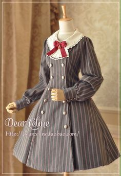 Cheap Autumn Academy Double Breasted Lolita Coat/OP Lolita Dress Sale At Lolita Dresses Online Shop. We provide Lolita products with quality and best service online, lower price and top style fashion for you. Harajuku Fashion, Kawaii Fashion, Cute Fashion, Estilo Lolita, Kawaii Dress, Kawaii Clothes, Japanese Fashion, Asian Fashion, Cosplay