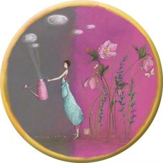 "Gaëlle Boissonnard magnet (88 mm) ""L'arrosoir rose"""